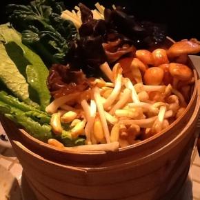 家庭では味わえない珍しい野菜を沢山いただきました! @ 渋谷道玄坂 月世界(料理1)