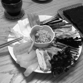 ホームパーティは手巻き寿司で(備忘録)