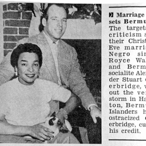 Flickr : Vieilles Annonces Interracial Marriage of Black Singer Royce Wallace and Bermudan Alexander Outerbridge Upsets Bermudans - Jet Magazine February 9, 1956