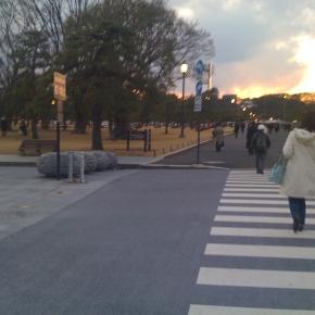 2011年3月11日金曜日。 皇居近く。