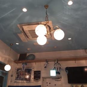 ピッツェリア・ダ・ペッペ ナポリスタカ 神谷町店 照明