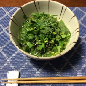 小松菜とたっぷり薬味素麺