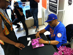 "Flickr : j-No : Spike Lee signing his special edition 30th Anniversary ""She's Gotta Have It"" Notebook"