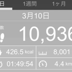 【note更新】8001m歩いた2019年3月10日日曜日
