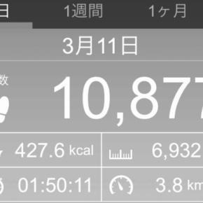 【note更新】6932m歩いた2019年3月11日月曜日(実際は9000mコースを歩いた。涙)