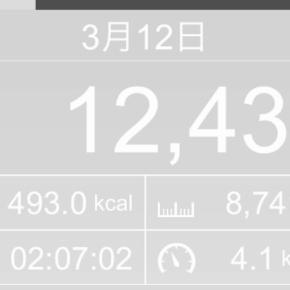 【note更新】8741m歩いた2019年3月12日火曜日