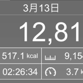 【note更新】9154m歩いた2019年3月13日水曜日