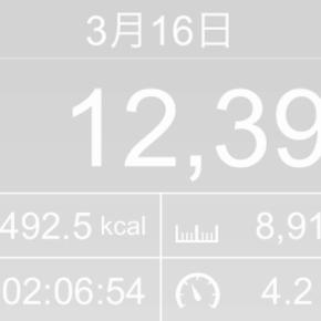 【note更新】8916m歩いた2019年3月16日土曜日