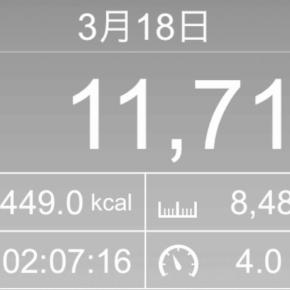 【note更新】8488m歩いた2019年3月18日月曜日