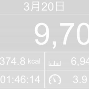 【note更新】6945m歩いた2019年3月20日水曜日