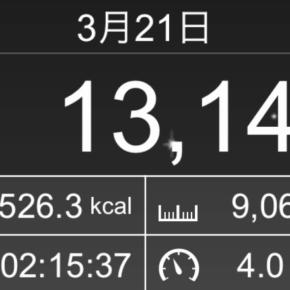 【note更新】9066m歩いた2019年3月21日木曜日
