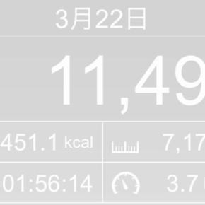【note更新】7170m歩いた2019年3月22日金曜日