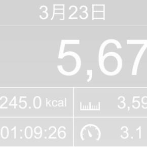 【note更新】3596m歩いた2019年3月23日土曜日