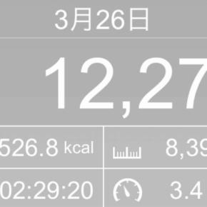 【note更新】8390m歩いた2019年3月26日火曜日