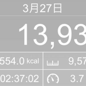 【note更新】9570m歩いた2019年3月27日水曜日