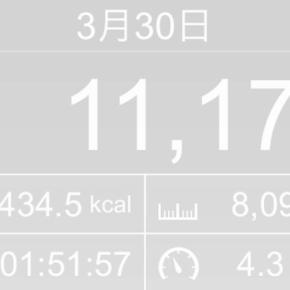 【note更新】8099m歩いた2019年3月30日土曜日