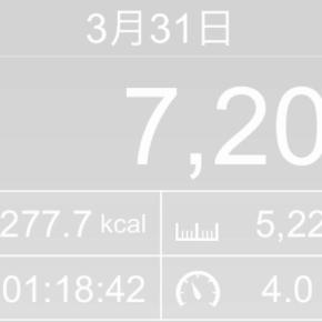 【note更新】5224m歩いた2019年3月31日日曜日