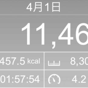 【note更新】8302m歩いた2019年4月1日月曜日