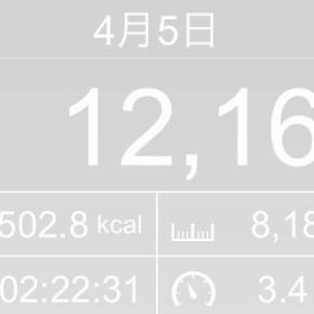 【note更新】8188m歩いた2019年4月5日金曜日