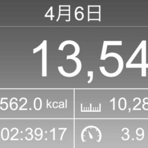 【note更新】10286m歩いた2019年4月6日土曜日