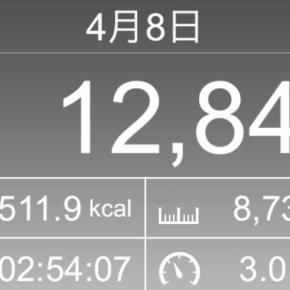 【note更新】8730m歩いた2019年4月8日月曜日