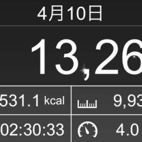 【note更新】9933m歩いた2019年4月10日水曜日