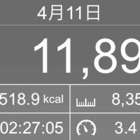 【note更新】8354m歩いた2019年4月11日木曜日