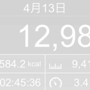 【note更新】9410m歩いた2019年4月13日土曜日