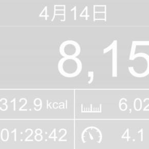 【note更新】6025m歩いた2019年4月14日日曜日