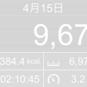 【note更新】6973m歩いた2019年4月15日月曜日