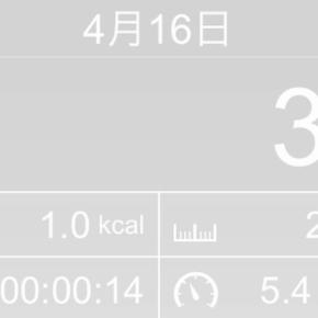【note更新】21m歩いた2019年4月16日火曜日