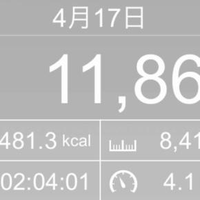 【note更新】8410m歩いた2019年4月17日水曜日