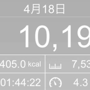 【note更新】7533m歩いた2019年4月19日金曜日