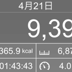【note更新】6878m歩いた2019年4月21日日曜日