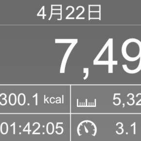 【note更新】5324m歩いた2019年4月22日月曜日
